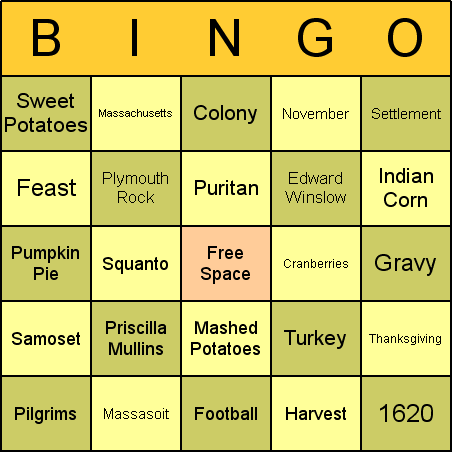 photograph about Thanksgiving Bingo Printable called Thanksgiving Bingo Playing cards