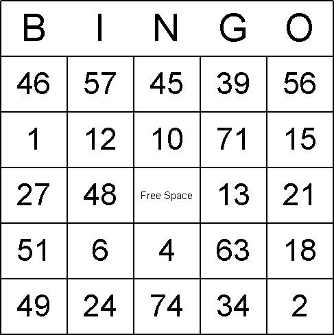"bingo cards as ""bingo boards"" or ""bingo sheets"". Numbers Bingo ..."